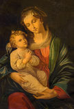 Trnava - The paint of Madonna by unknown painter in the sacristy of St. Nicholas church. Royalty Free Stock Photography