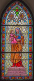 Trnava - Saint Ann from windowpane of st. Helen church from 19. cent. Royalty Free Stock Photos