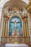 TRNAVA, SLOVACCHIA - 3 MARZO 2014: L'altare barrocco laterale nella chiesa delle gesuite da 18 centesimo Immagini Stock Libere da Diritti