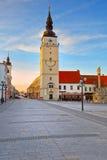 Trnava, Slovakia. City tower in the main square of Trnava, Slovakia Stock Photography