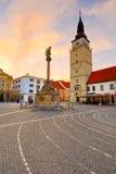 Trnava, Slovakia. City tower in the main square of Trnava, Slovakia Royalty Free Stock Photography
