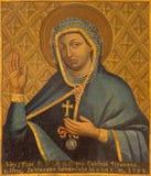 Trnava - Virgen María como la patrona en la epidemia y la guerra del peste a partir del año 1708 del pintor desconocido en de la  Foto de archivo
