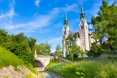 Trnovo Church in Ljubljana, Slovenia stock image