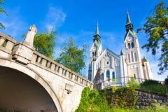 Trnovo kyrka i Ljubljana, Slovenien Royaltyfri Bild