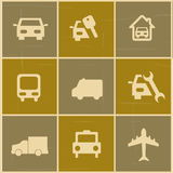 Trnsport icons. Transport icons over colorful background vector illustration Stock Image