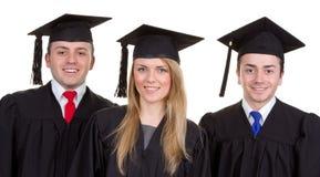Trío graduado Fotos de archivo