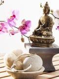 Tro i meditationen för inre skönhet och avkoppling Royaltyfri Bild