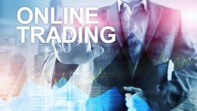 Troca, conceito em linha dos estrangeiros, do investimento e do mercado financeiro fotos de stock