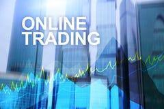 Troca, conceito em linha dos estrangeiros, do investimento e do mercado financeiro imagens de stock