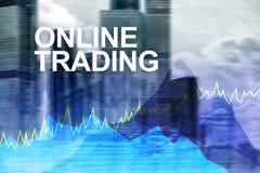 Troca, conceito em linha dos estrangeiros, do investimento e do mercado financeiro imagens de stock royalty free