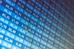 Troca conservada em estoque de dados financeiros fotografia de stock