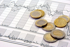 Troca conservada em estoque e dinheiro Imagens de Stock Royalty Free