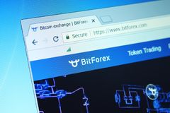 Troca de Bitforex fotos de stock royalty free