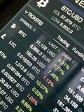 Troca de Cryptocurrency fotos de stock