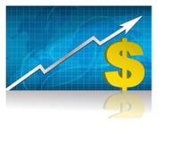 Troca de dólar/vetor Imagens de Stock