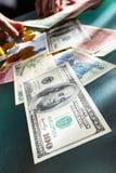 Troca de dinheiro fotos de stock royalty free