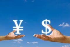 Troca de dinheiro fotografia de stock royalty free