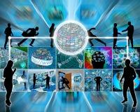 Troca de informação Imagens de Stock Royalty Free