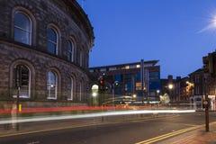 Troca de milho exterior de Leeds no crepúsculo Fotos de Stock