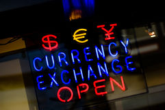 Troca de moeda Foto de Stock