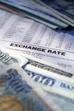 Troca de moeda Fotografia de Stock