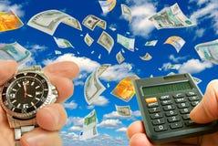 Troca de moeda. Fotografia de Stock