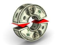 Troca de moeda. dólar ilustração do vetor