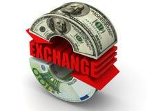 Troca de moeda. Euro- Fotos de Stock Royalty Free