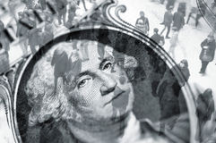 Troca do dólar Foto de Stock Royalty Free