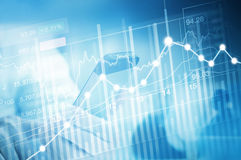 Troca do investimento do mercado de valores de ação, carta do gráfico da vara da vela Imagens de Stock