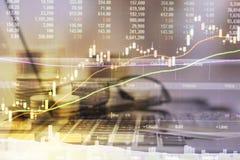 Troca do mercado de valores de ação Fotos de Stock