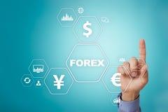 Troca dos estrangeiros, investimento em linha Conceito do negócio, do Internet e da tecnologia imagens de stock royalty free