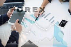 Troca dos estrangeiros, investimento em linha Conceito do negócio, do Internet e da tecnologia fotografia de stock