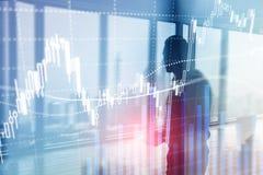 Troca dos estrangeiros, mercado financeiro, conceito do investimento no fundo do centro de negócios imagens de stock royalty free