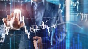 Troca dos estrangeiros, mercado financeiro, conceito do investimento no fundo do centro de neg?cios fotografia de stock