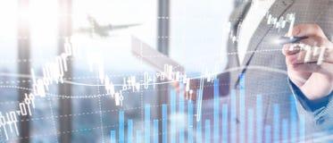 Troca dos estrangeiros, mercado financeiro, conceito do investimento no fundo do centro de neg?cios fotos de stock