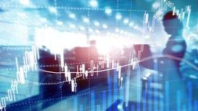 Troca dos estrangeiros, mercado financeiro, conceito do investimento no fundo do centro de neg?cios foto de stock royalty free