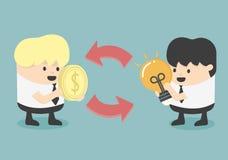 Troca e comércio ilustração stock