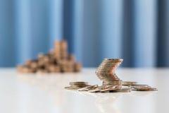 Troca econômica da moeda asiática no baht tailandês do THB para a notícia finan Imagens de Stock