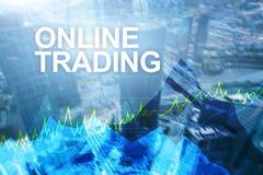 Troca, investimento dos estrangeiros e conceito em linha do mercado financeiro imagens de stock royalty free