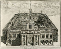 A troca real de Londres Inglaterra 1671 Imagem de Stock Royalty Free