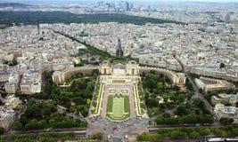 Trocadéro y el Palais de Chaill Imagen de archivo libre de regalías