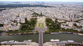 Trocadéro y el Palais de Chaill Foto de archivo libre de regalías