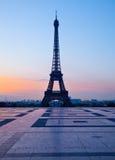 Trocadero和埃佛尔铁塔,巴黎 免版税库存照片