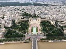 trocadero和palais de chaillot鸟瞰图在巴黎 库存图片