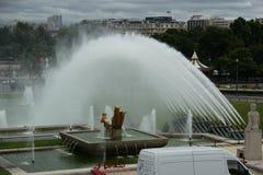 Trocadero在巴黎 免版税库存图片