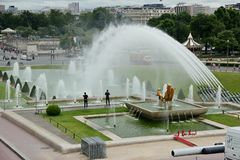 Trocadero在巴黎 免版税库存照片