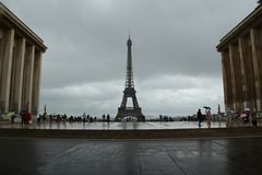 Trocadero在巴黎 库存图片