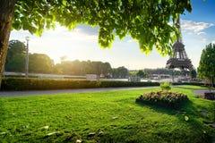 Trocadero庭院在巴黎 免版税库存照片