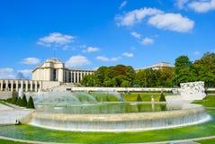 Trocadero的喷泉 库存图片